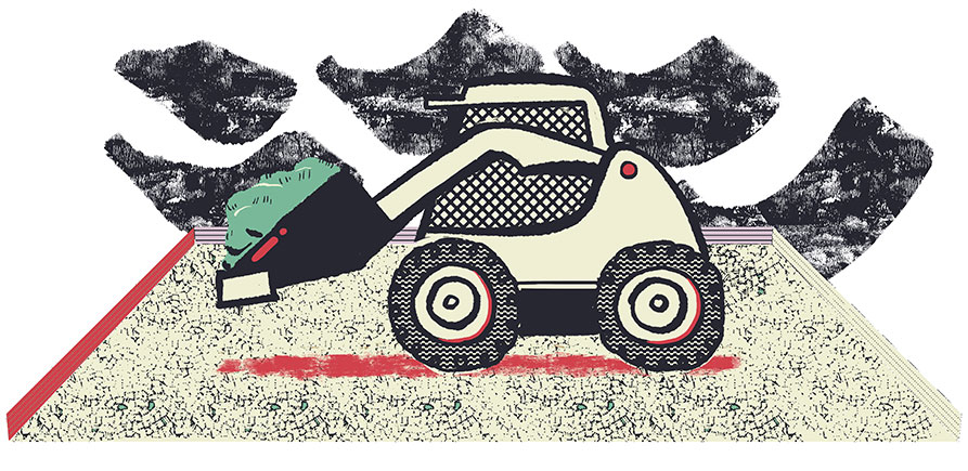 Illustration of skid-steer loader