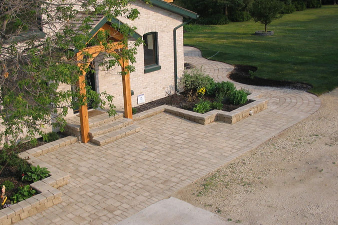 Patio and stone walk way near Dufresne, MB